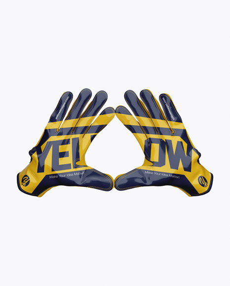 Download American Football Gloves Mockup Touched Yellowimages