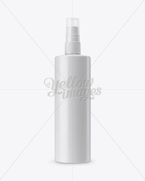 Download Opened Metallic Spray Bottle With Plastic Cap Psd Mockup Yellowimages