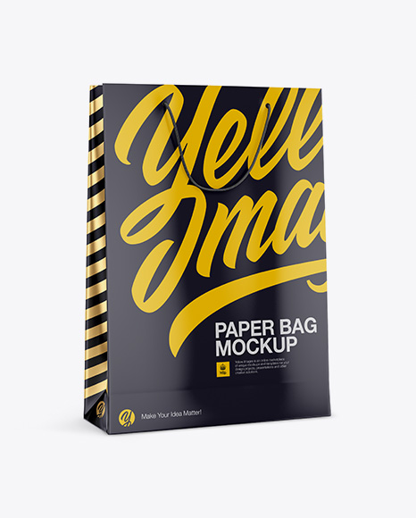 5996c13a8aa08 Glossy Paper Bag Mockup - Half side View templates