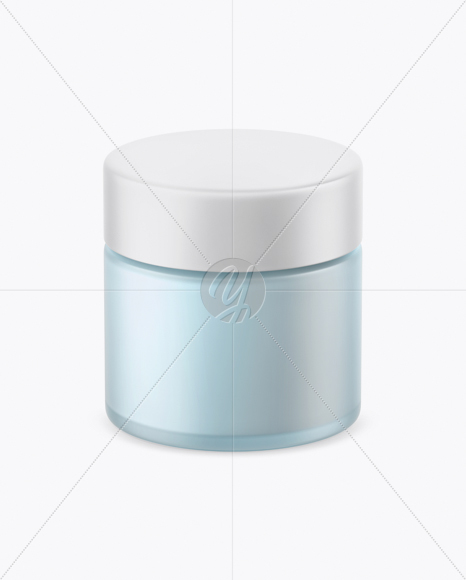 Download Opened Green Frosted Glass Cosmetic Jar In Wooden Shell Psd Mockup Yellow Images
