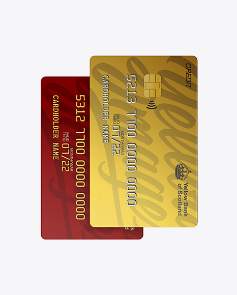 59a910365d8bf Matte Plastic and Metallic Credit Cards Mockup - Front View templates