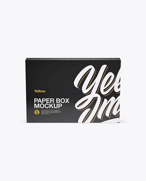 Textured Paper Box Mockup (High-Angle Shot) Packaging Mockups