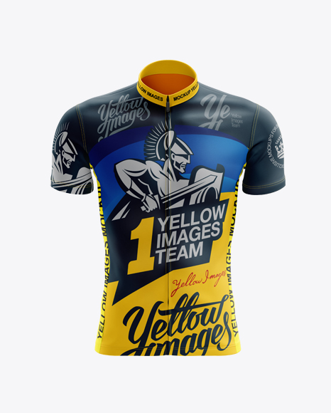 Download Men's Cycling Jersey mockup (Front View) in Apparel ...