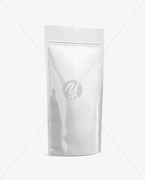 Download Metallic Stand Up Pouch Zipper Psd Mockup Yellowimages