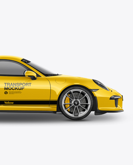 5a0c1eb90d2e5 Porsche 911 R Mockup - Side View templates