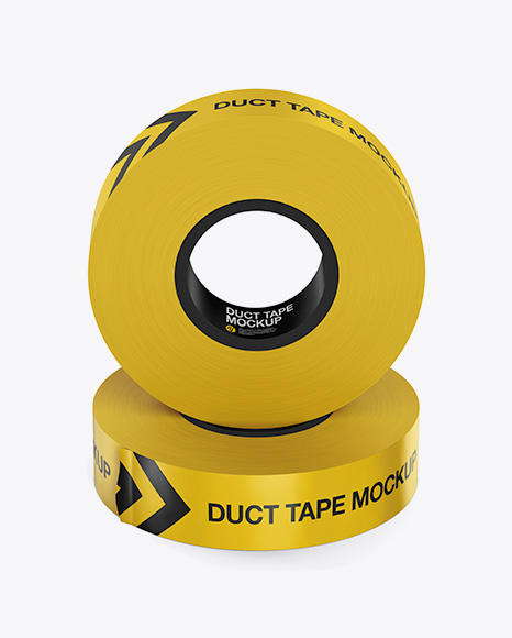 5a0c74e2b7b80 Two Duct Tapes Mockup - Front View (High-Angle Shot) templates