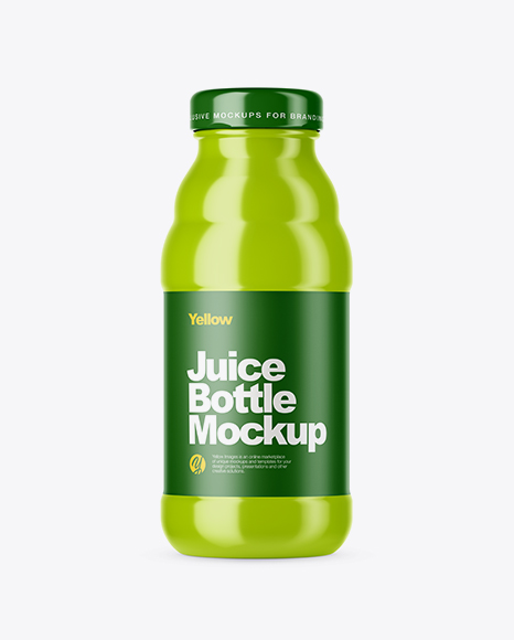 Download Glossy Juice Pack With Screw Cap Psd Mockup Yellow Images