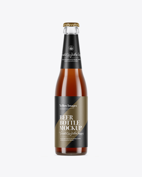 5a6893d741d9c Clear Glass Bottle With Red Ale Mockup templates