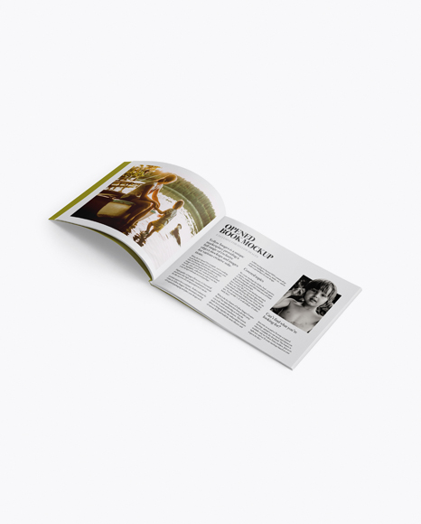 5a69c80ad065f Opened Magazine Mockup - Half Side View templates