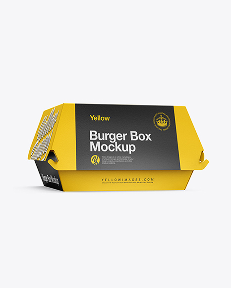 Download Burger Box Mockup - Half Side View in Box Mockups on ...