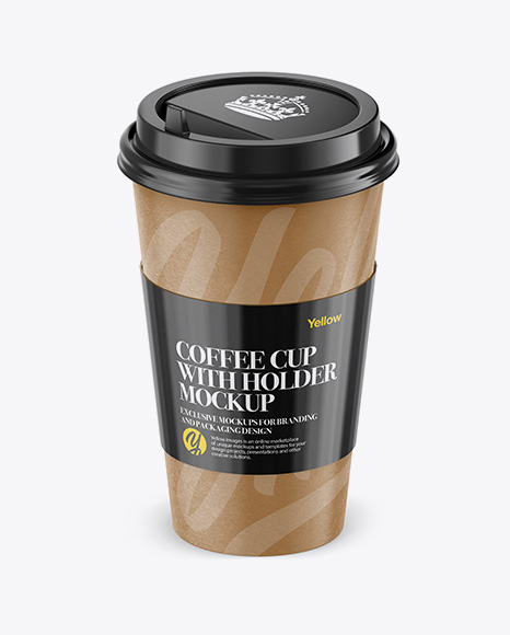 Download Coffee Cup With Paper Sleeve Psd Mockup Yellowimages
