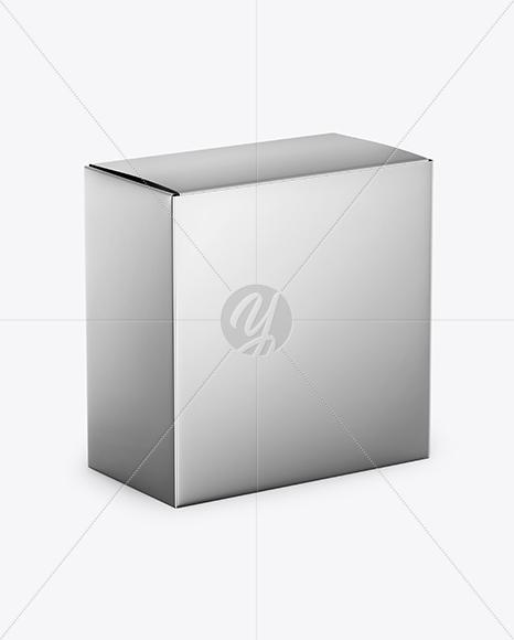Download Kraft Paper Box Psd Mockup Half Side View High Angle Shot Yellowimages