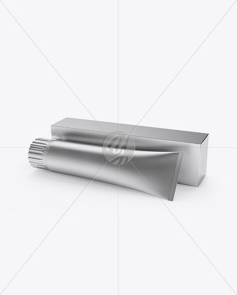 Download Matte Cosmetic Tube Paper Box Psd Mockup Yellowimages