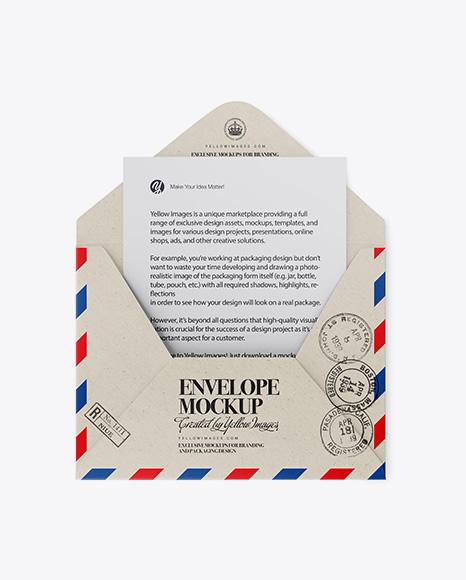 Download Mockup Envelope Kraft Yellowimages