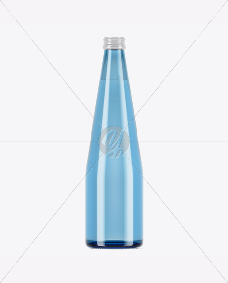 Download 100ml Blue Glass Water Bottle Mockup Yellow Images