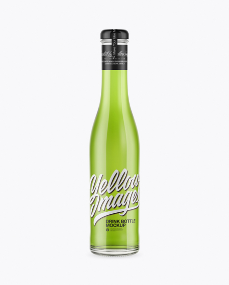 5ac77782346df Clear Glass Bottle With Green Drink Mockup templates