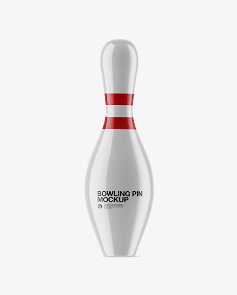 5acb671edc5d4 Glossy Bowling Pin Mockup templates