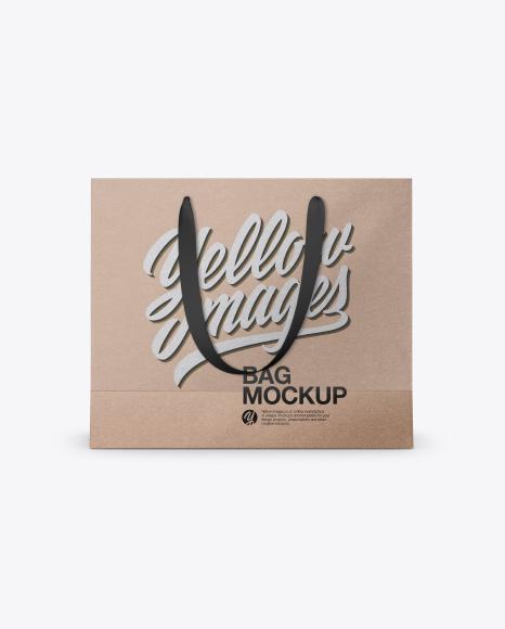 Kraft Bag Mockup - Front & Top Views