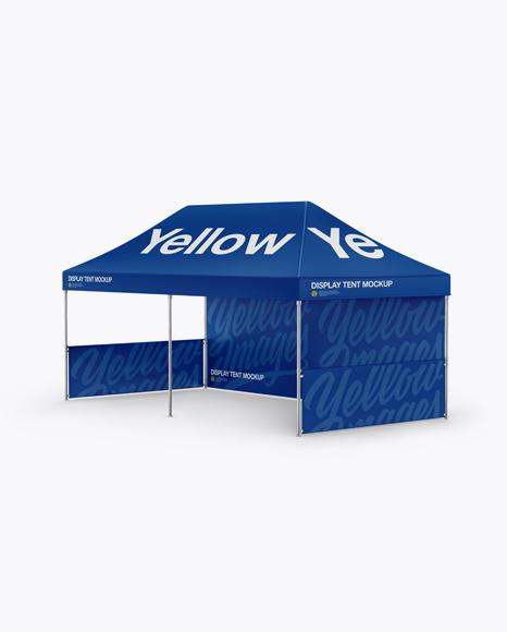 Display Tent Mockup - Half Side View