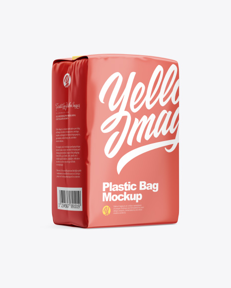 Glossy Plastic Bag - Half Side View