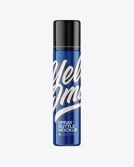 50ml Glossy Spray Bottle Mockup