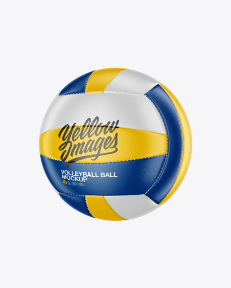Volleyball Ball Mockup - Half Side View