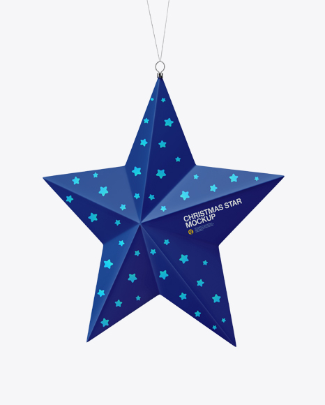 Matte Christmas Star Toy Mockup - Half Side View