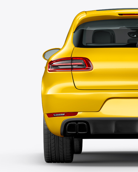 Luxury SUV Сrossover Mockup - Back View