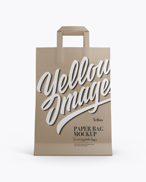 Kraft Bag Mockup - Front View