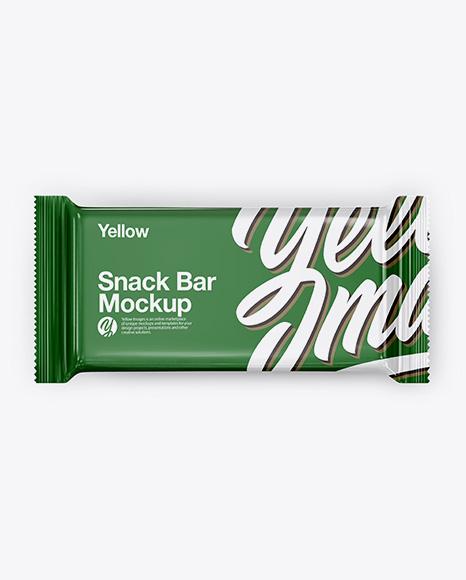 Glossy Snack Bar Mockup - Top View