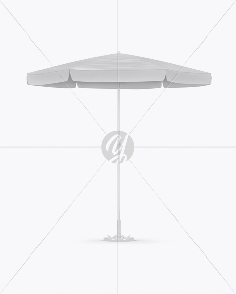 glossy patio umbrella mockup front view in outdoor advertising mockups on yellow images object mockups