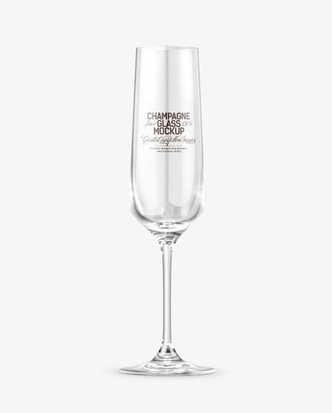 Empty Champagne Glass Mockup