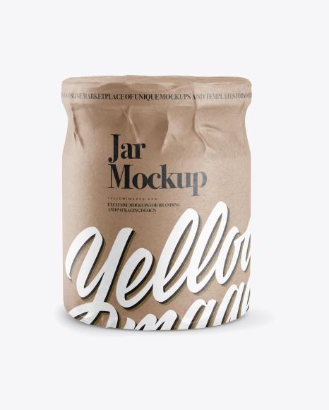 Jar in Kraft Paper Wrap Mockup