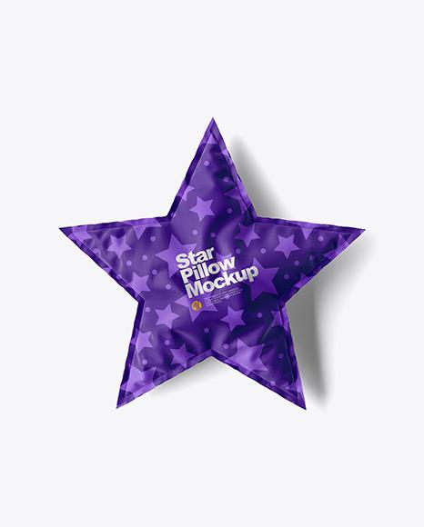 Star Pillow Mockup - Top View