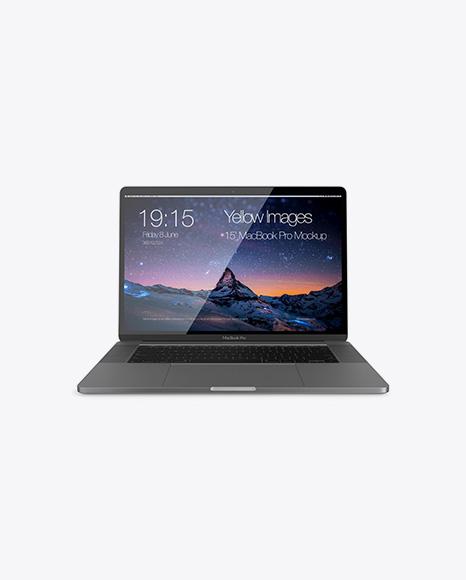 Macbook Pro Mockup - Front View