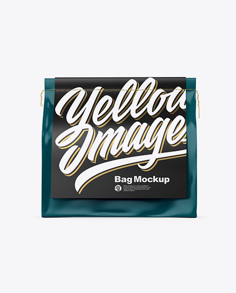 Matte Bag Mockup - Front View
