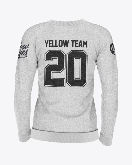 Women's Melange Sweatshirt Mockup - Back View