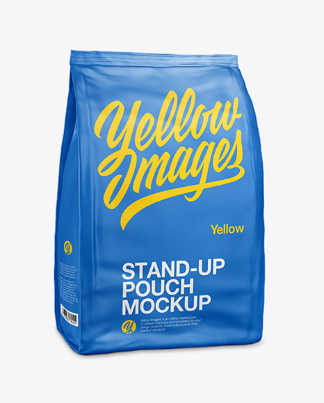 Stand Up Matte Pouch - Half Side View