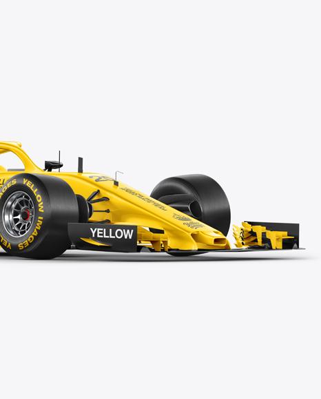Formula-1 2018 Mockup - Halfside View