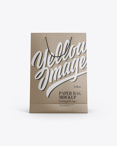 Kraft Paper Bag Mockup - Front View