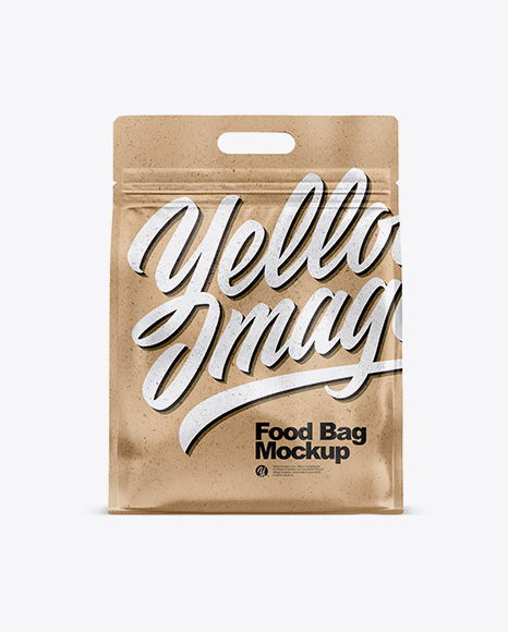 Kraft Paper Stand-up Food Bag Mockup