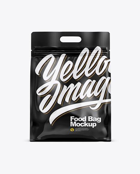Glossy Stand-up Food Bag Mockup