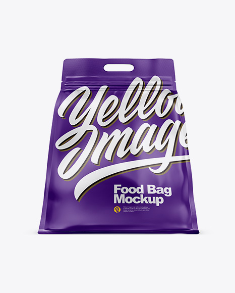 Matte Stand-up Food Bag Mockup - Hero Shot