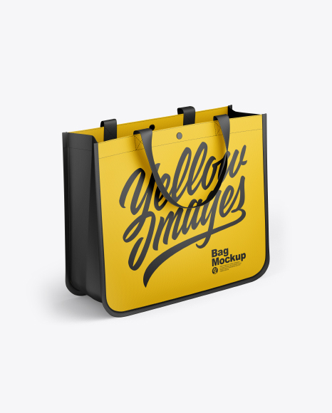 Download Bag Mockup Half Side View High Angle Shot Yellowimages
