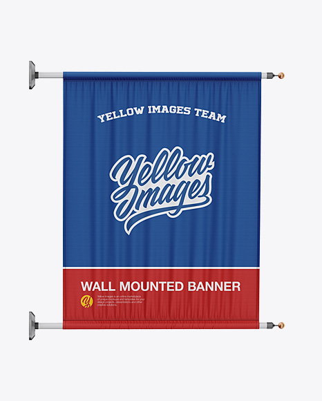 Wall Mounted Banner Mockup - Front View