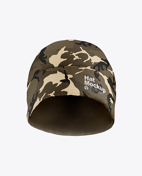 Matte Hat Mockup - Front View