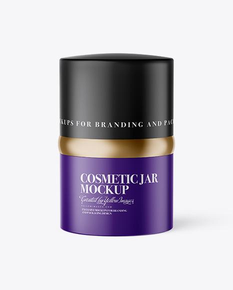 20ml Matte Cosmetic Jar Mockup