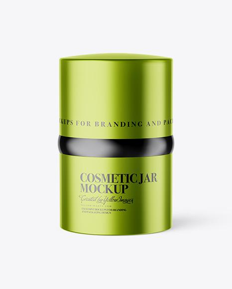 20ml Metallic Cosmetic Jar Mockup