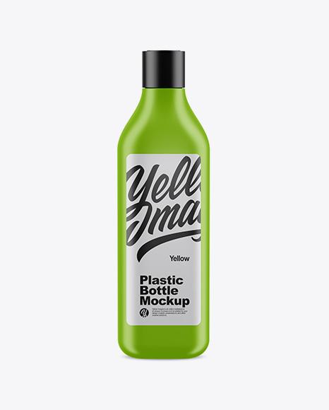 Matte Square Bottle Mockup - Front View