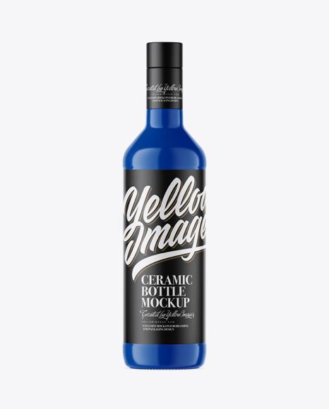 500ml Glossy Ceramic Bottle Mockup
